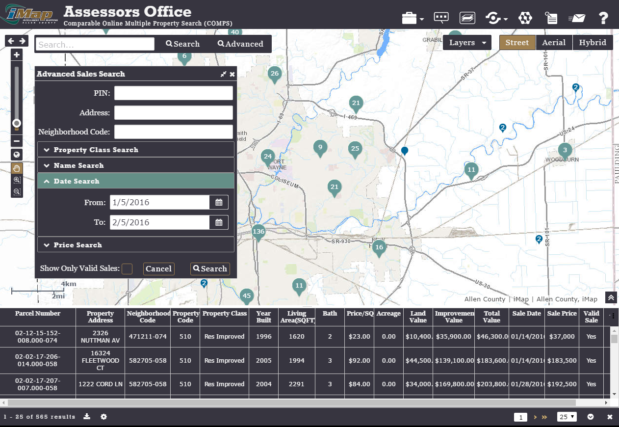 Allen County, Indiana iMap Portal